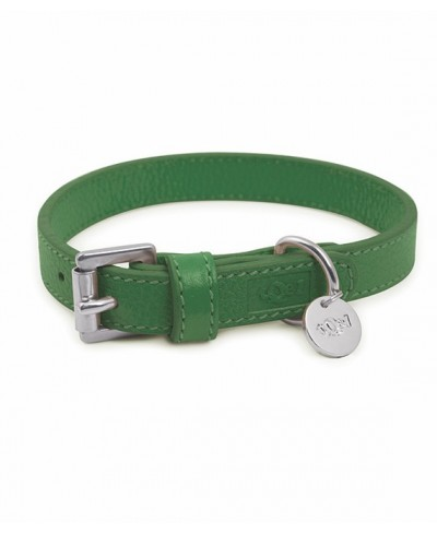 Green Leather Collar - Mint