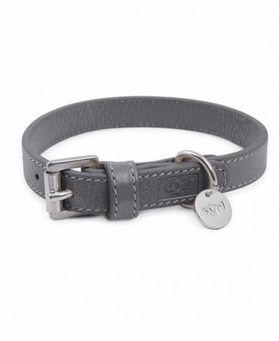 Lederhalsband Grey