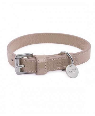 Taupe Leather Collar - Taupe