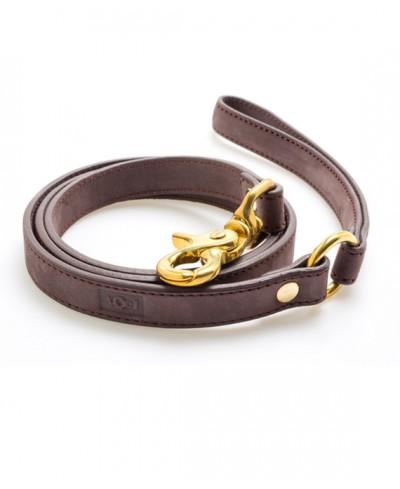 Coffee Nobuk leather leash