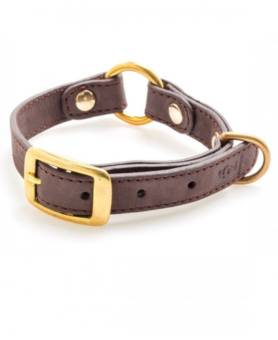 Coffee Nobuk leather collar